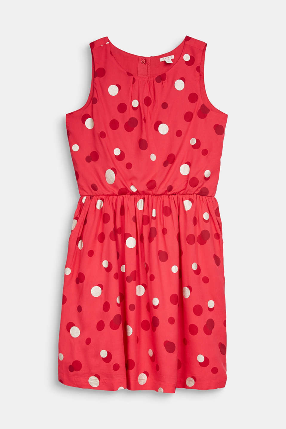 Esprit - Dress with a shimmering polka dot print