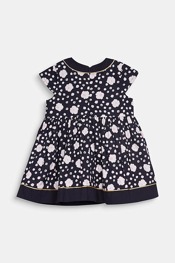 Kleid mit Blumen-Print , 100% Baumwolle, MIDNIGHT BLUE, detail image number 2