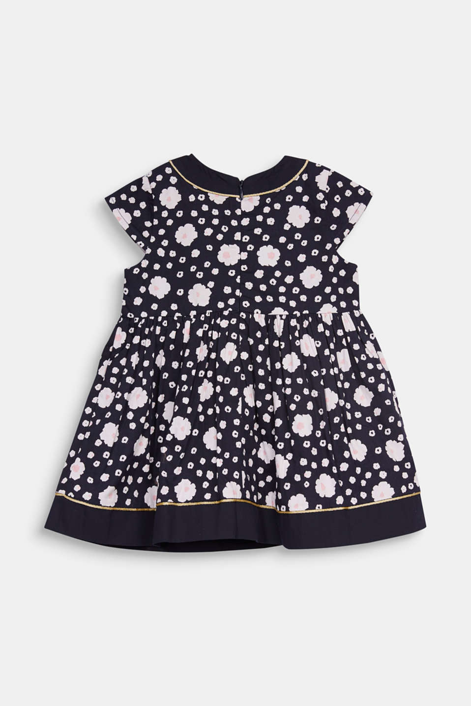 Floral print dress, 100% cotton, LCMIDNIGHT BLUE, detail image number 2