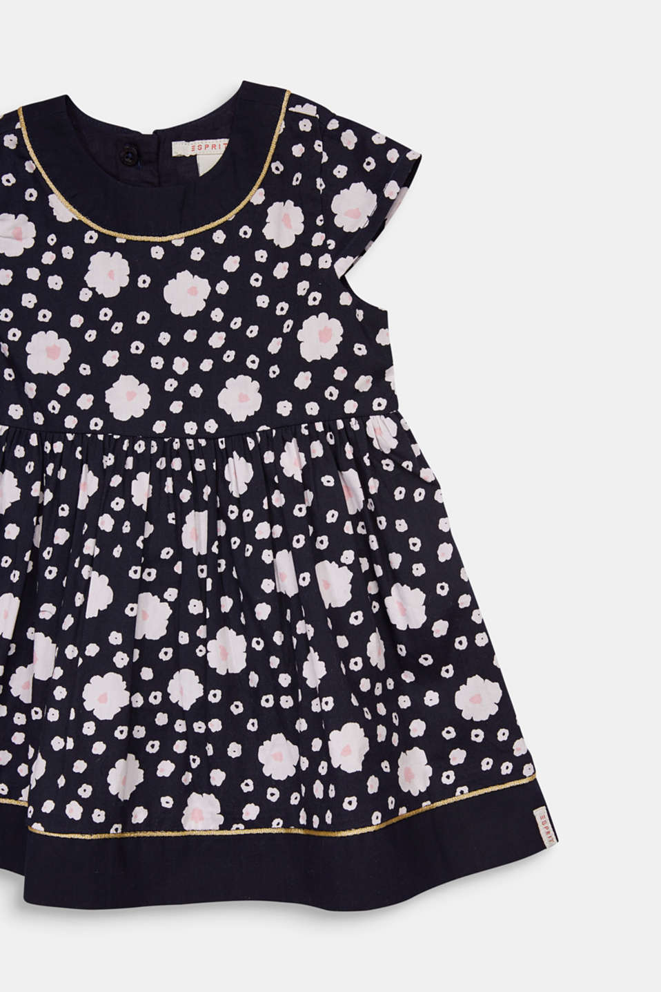 Floral print dress, 100% cotton, LCMIDNIGHT BLUE, detail image number 1