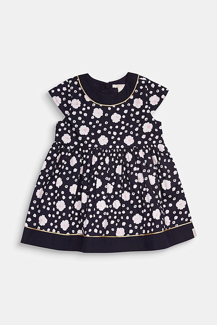 Kleid mit Blumen-Print , 100% Baumwolle, MIDNIGHT BLUE, detail image number 0