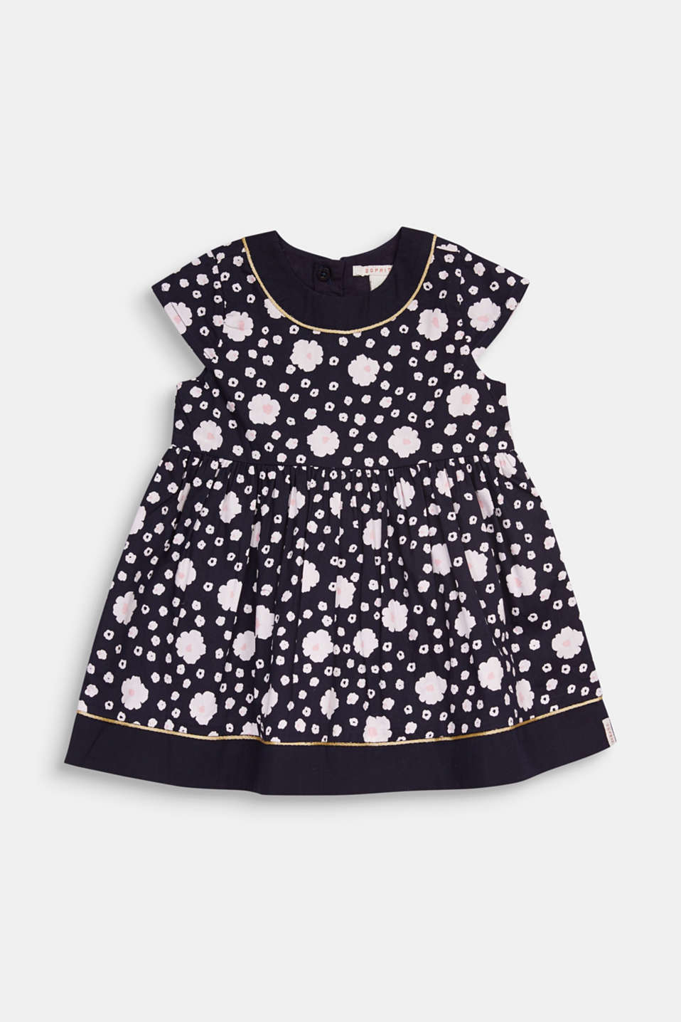 Floral print dress, 100% cotton, LCMIDNIGHT BLUE, detail image number 0