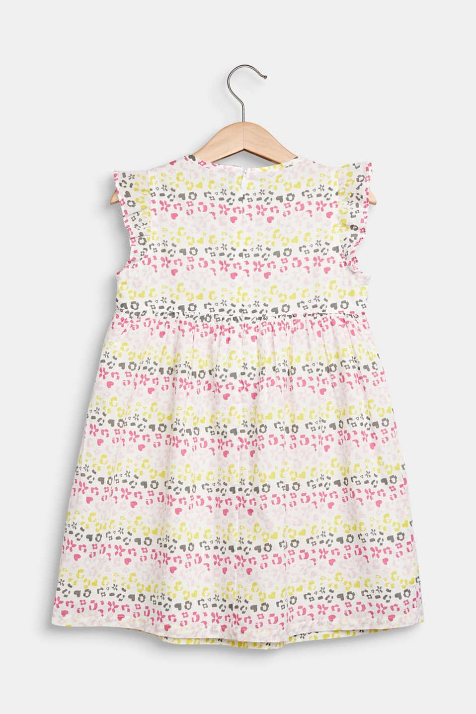 Floral print dress, 100% cotton, WHITE, detail image number 1