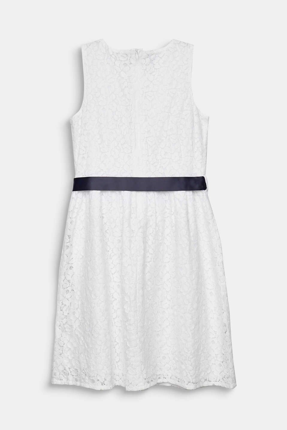 Formal lace dress, LCWHITE, detail image number 1