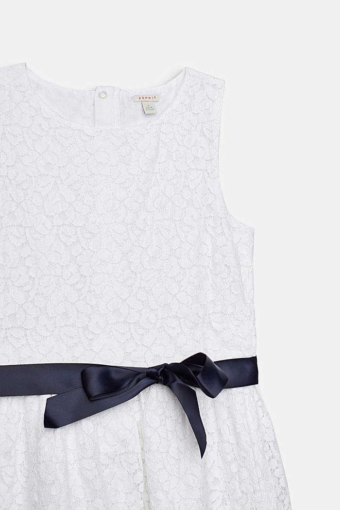Festliches Kleid aus Spitze, WHITE, detail image number 2