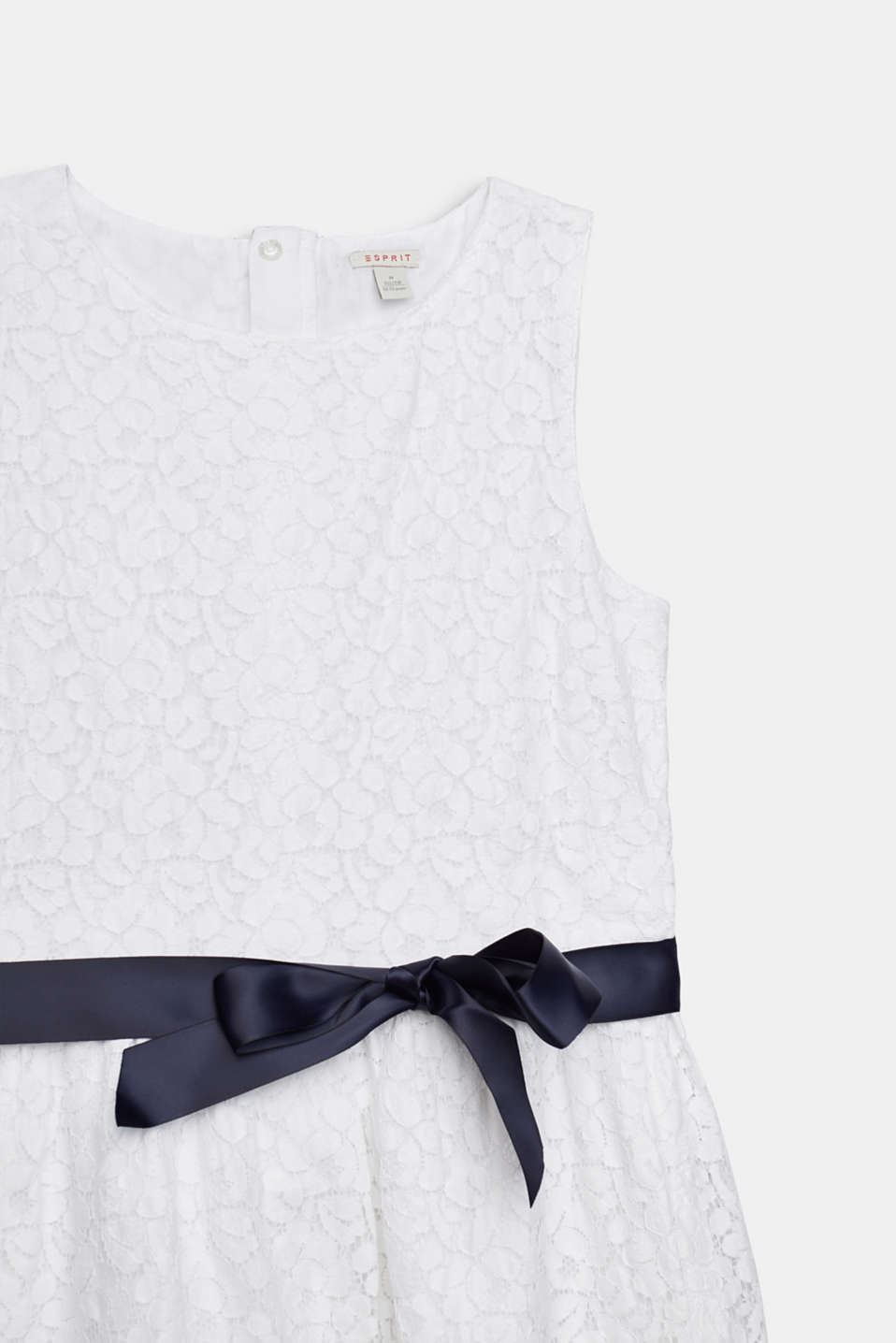 Formal lace dress, LCWHITE, detail image number 2