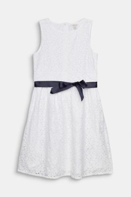 Formal lace dress, LCWHITE, detail