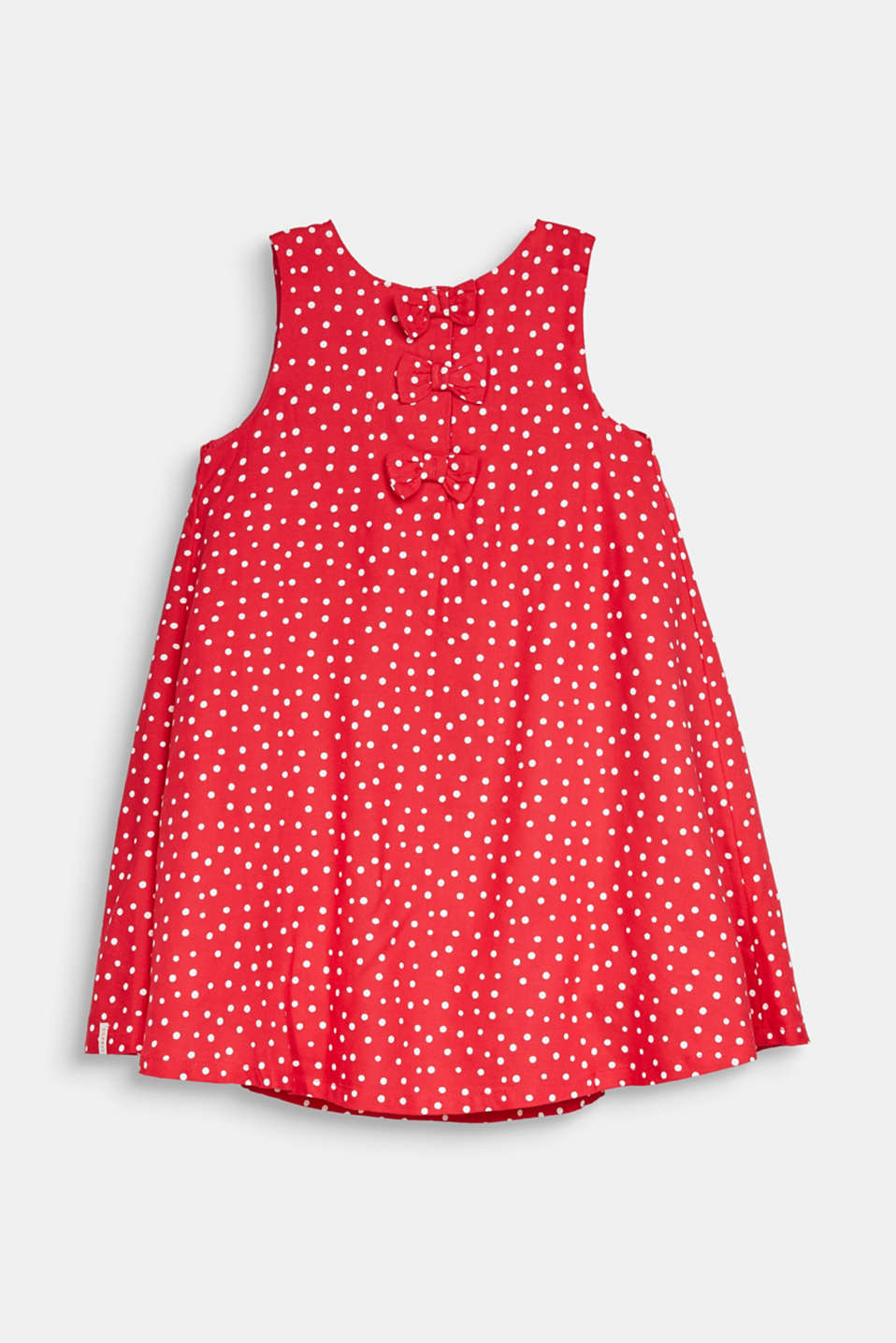 Woven polka dot dress with bows, RASPBERRY, detail image number 1