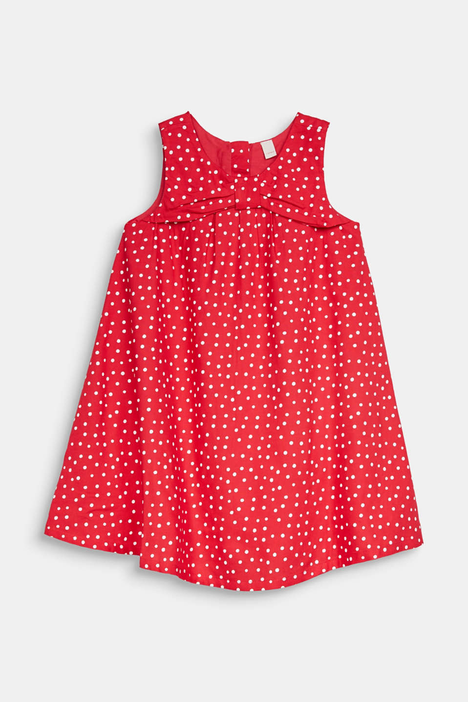 Woven polka dot dress with bows, RASPBERRY, detail image number 0
