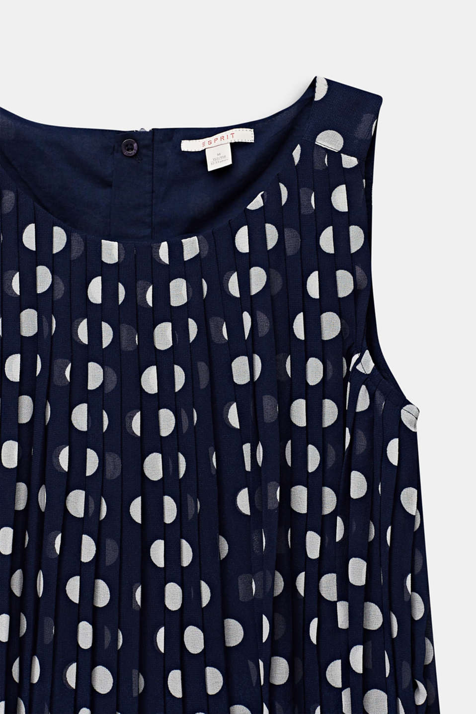 Pleated chiffon dress with polka dots, LCMIDNIGHT BLUE, detail image number 2