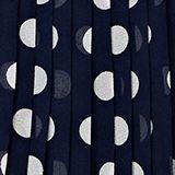 Plisseekleid aus Chiffon mit Punkten, MIDNIGHT BLUE, swatch