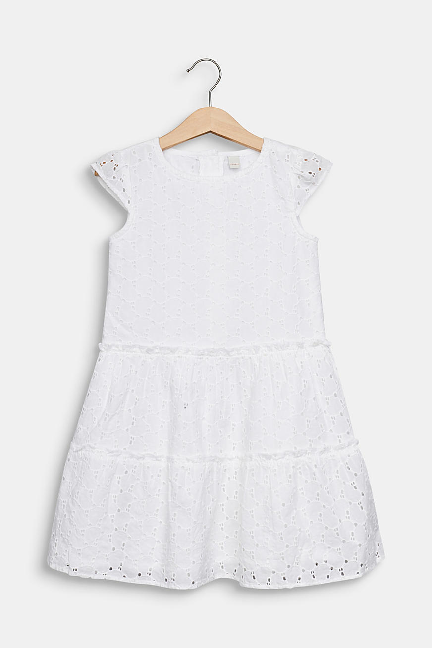 Robe à broderie anglaise, 100 % coton