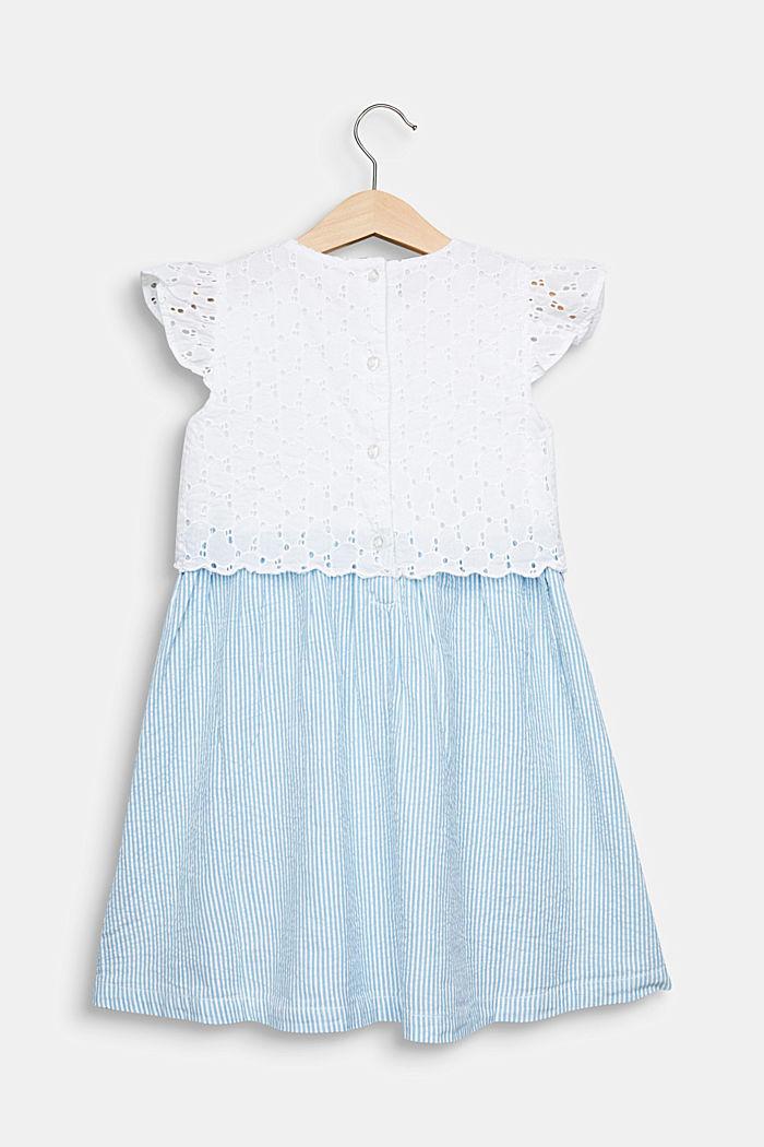 Kleid mit Lochstickerei, 100% Baumwolle, WHITE, detail image number 1