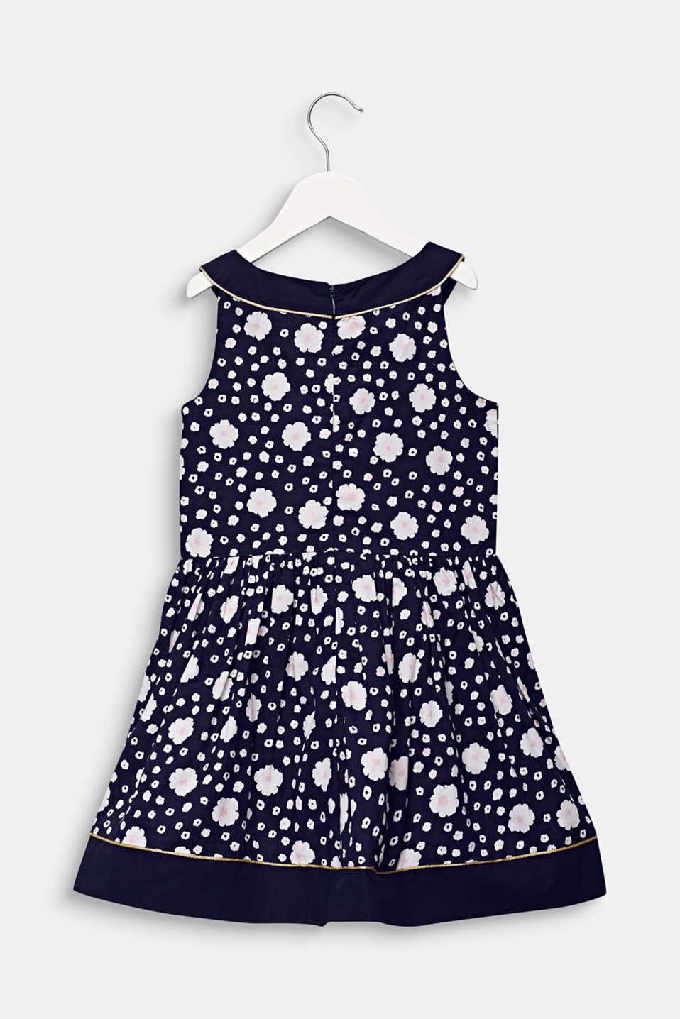 Floral print dress, 100% cotton, MIDNIGHT BLUE, detail image number 1