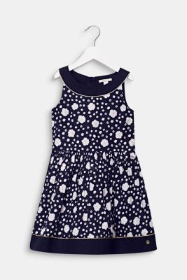 Floral print dress, 100% cotton, MIDNIGHT BLUE, detail