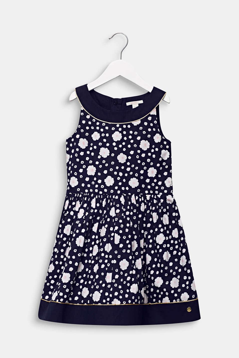 Floral print dress, 100% cotton, MIDNIGHT BLUE, detail image number 0