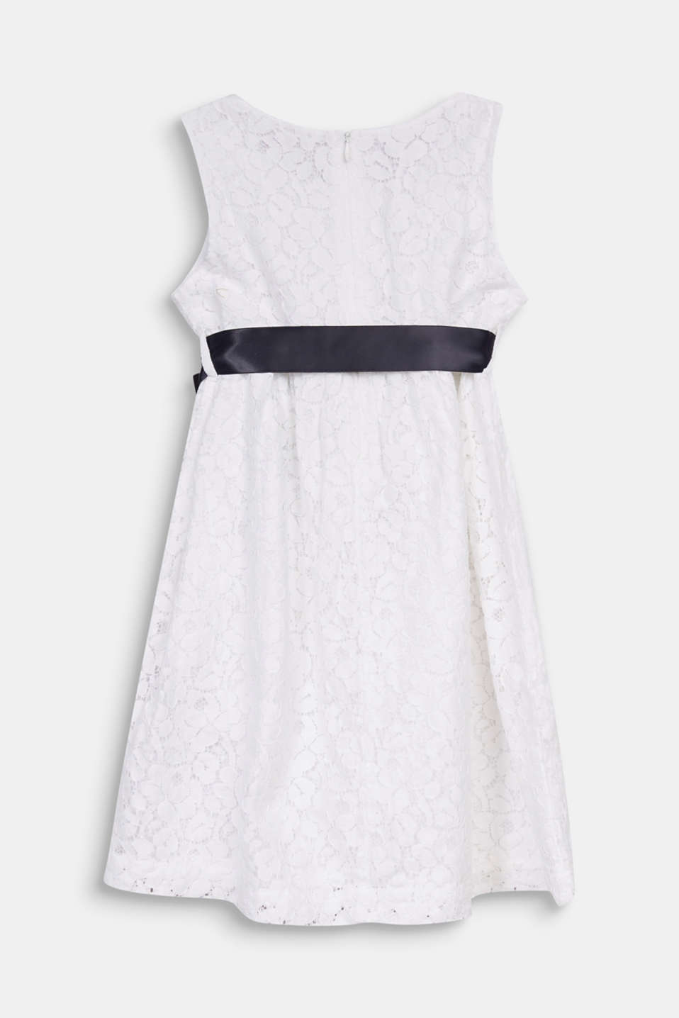 Formal lace dress, WHITE, detail image number 1