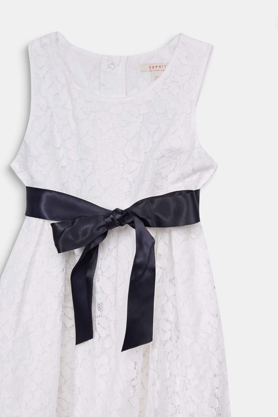 Formal lace dress, WHITE, detail image number 2