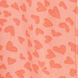 Heart print dress with an elasticated waist, CORAL, swatch