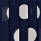 Pleated chiffon dress with polka dots, MIDNIGHT BLUE, swatch