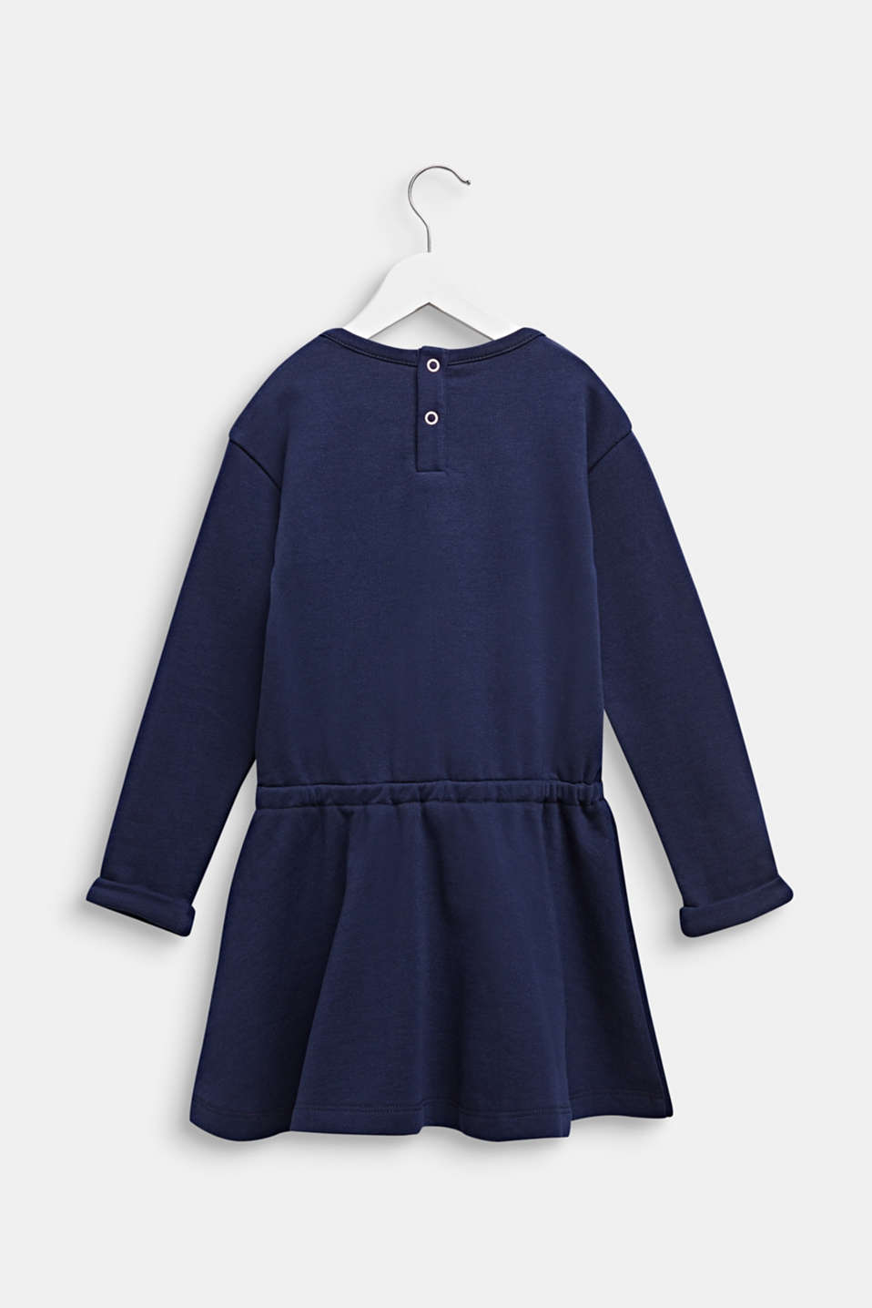 Sweatshirt dress with a cat face, 100% cotton, MIDNIGHT BLUE, detail image number 1