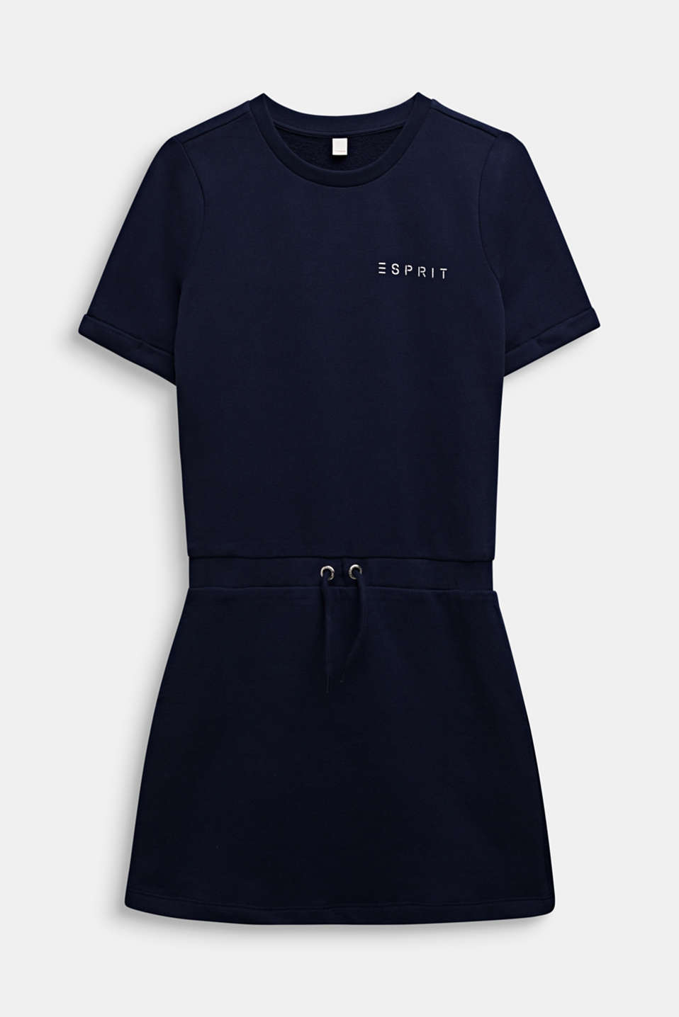 Esprit - Sweatshirt fabric dress with a shiny logo print
