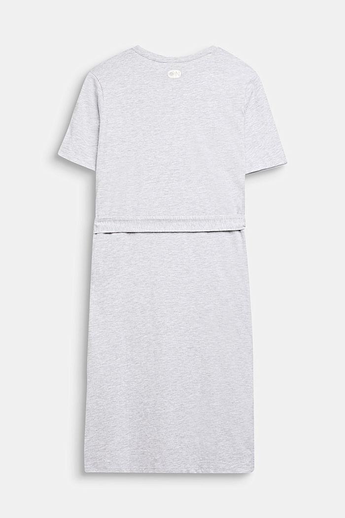 Meleerattu paitamekko jerseytä, HEATHER SILVER, detail image number 1