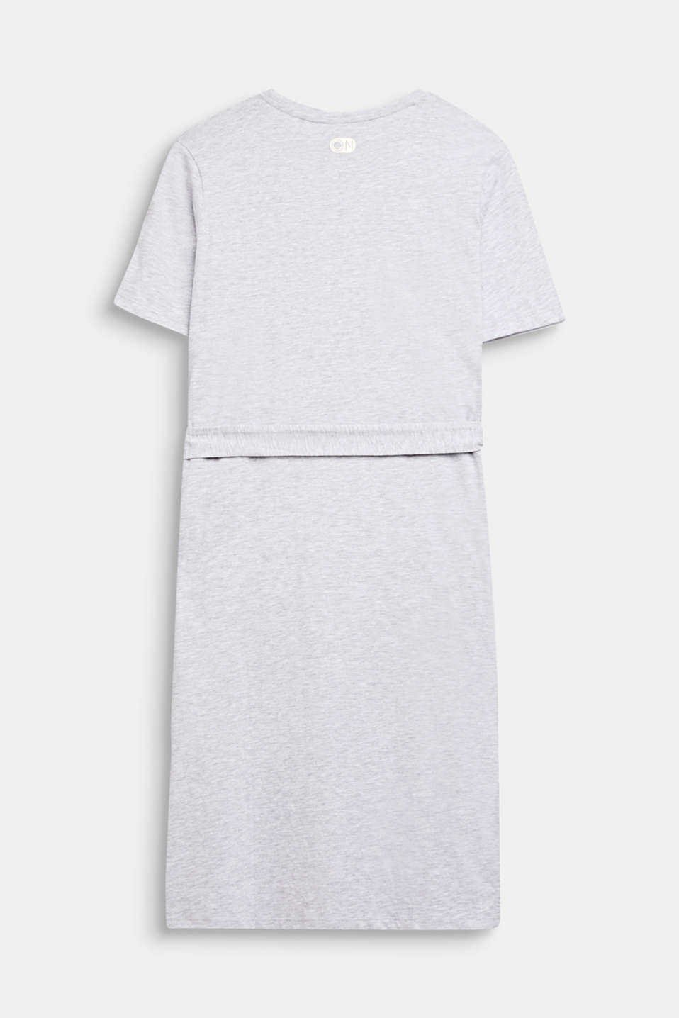 Melange shirt dress made of jersey, LCHEATHER SILVER, detail image number 1
