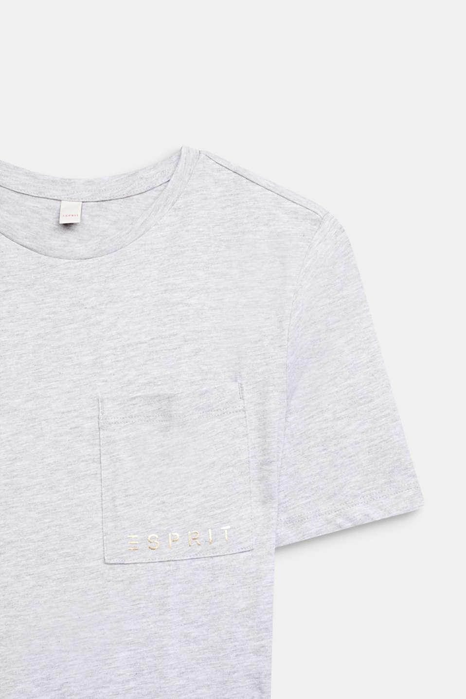 Melange shirt dress made of jersey, LCHEATHER SILVER, detail image number 2
