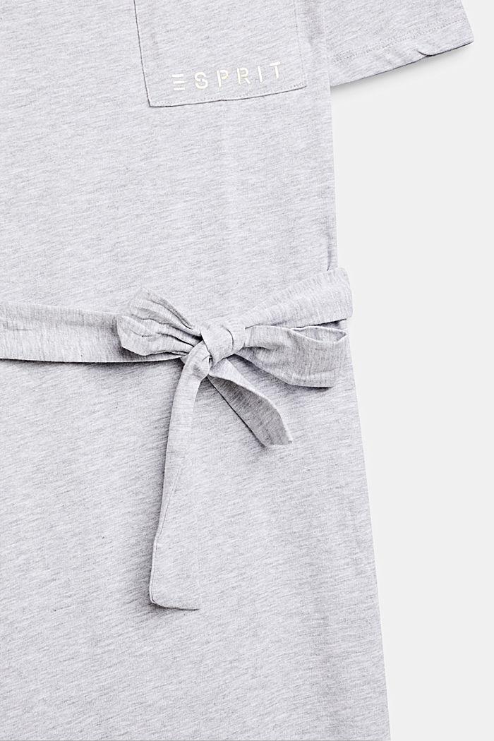 Meleerattu paitamekko jerseytä, HEATHER SILVER, detail image number 3