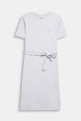 Melange shirt dress made of jersey, LCHEATHER SILVER, detail