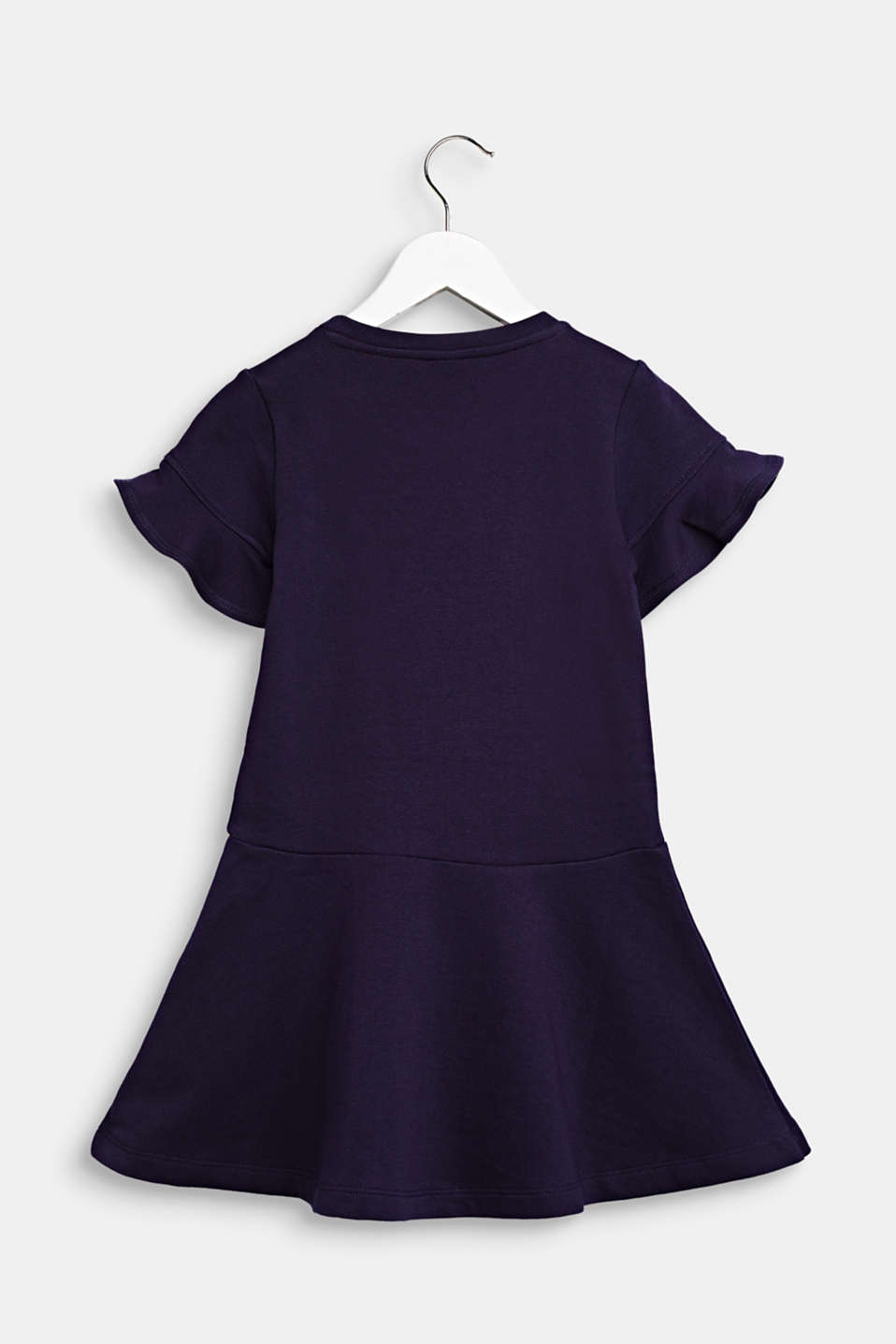 Sweatshirt dress with sequins, 100% cotton, NIGHT BLUE, detail image number 1