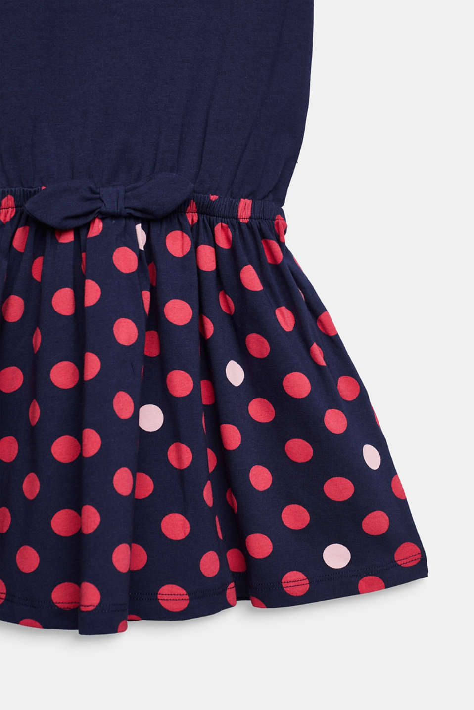 Jersey dress with a polka dots, stretch cotton, MIDNIGHT BLUE, detail image number 2