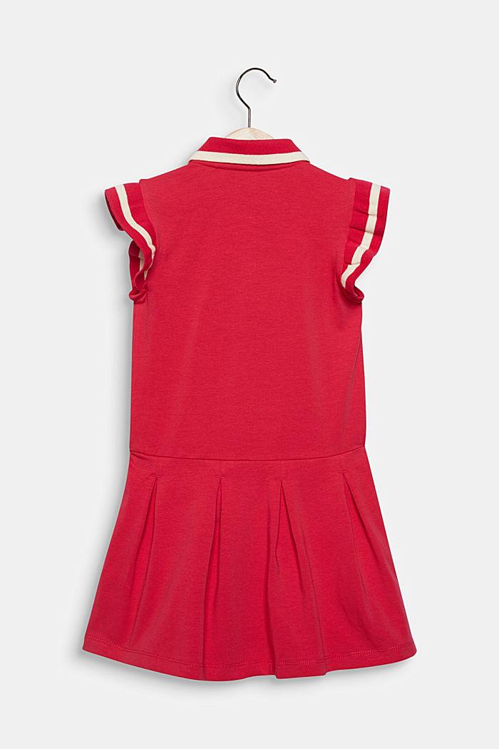 Jersey-Stretch-Kleid mit Faltenrock, RASPBERRY, detail image number 1
