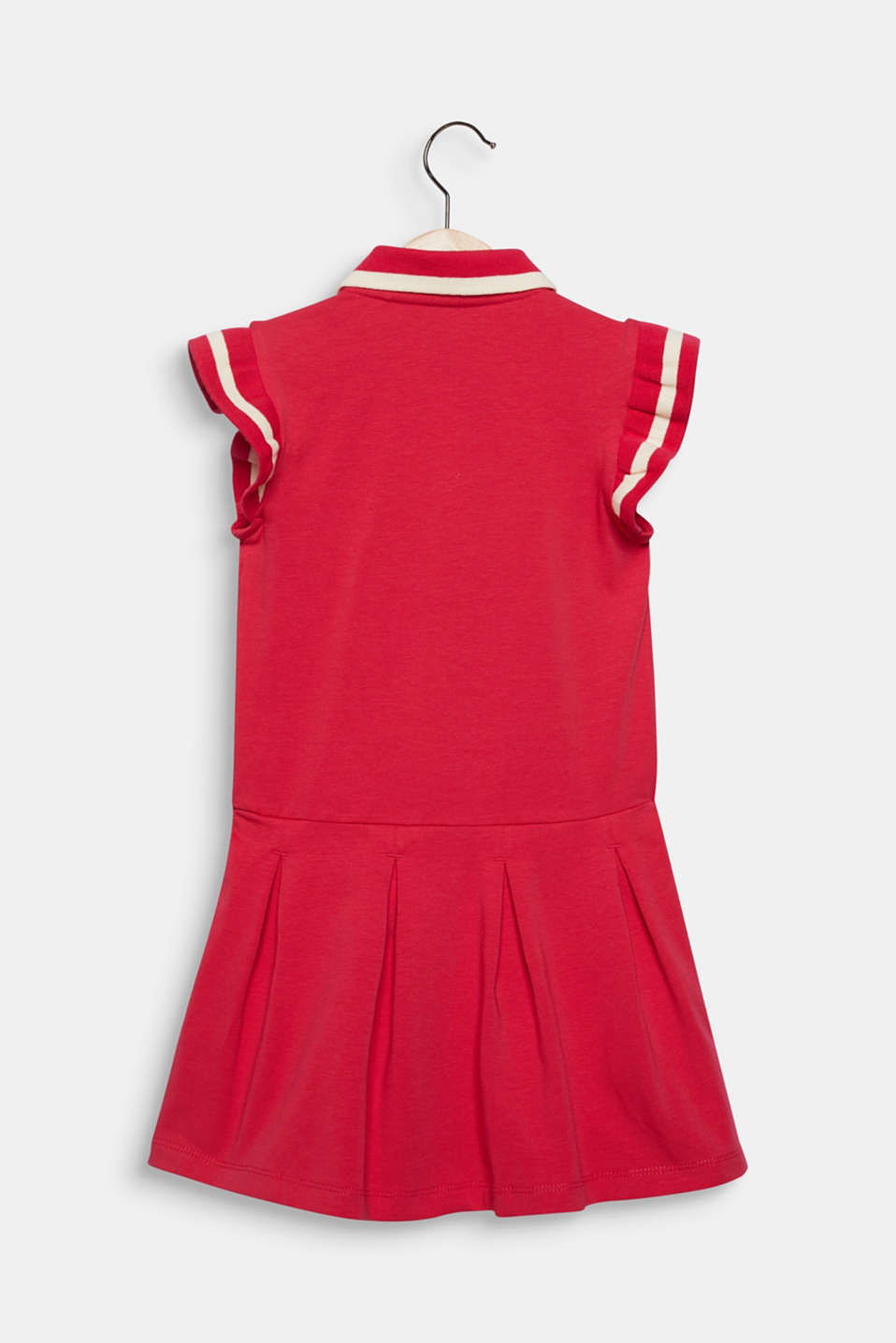 Stretch jersey dress with pleated skirt, RASPBERRY, detail image number 1