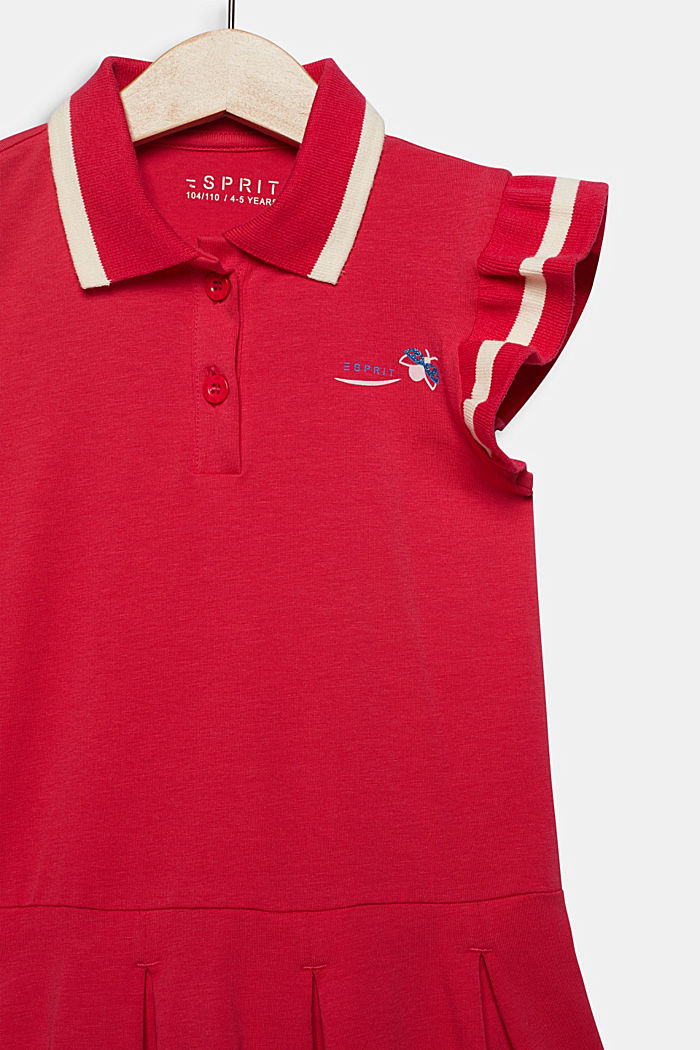 Jersey-Stretch-Kleid mit Faltenrock, RASPBERRY, detail image number 2