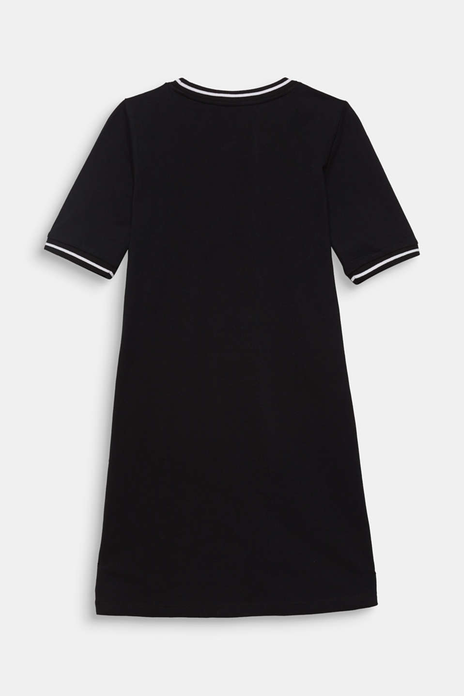 Piqué dress with contrasting stripes, 100% cotton, LCBLACK, detail image number 1