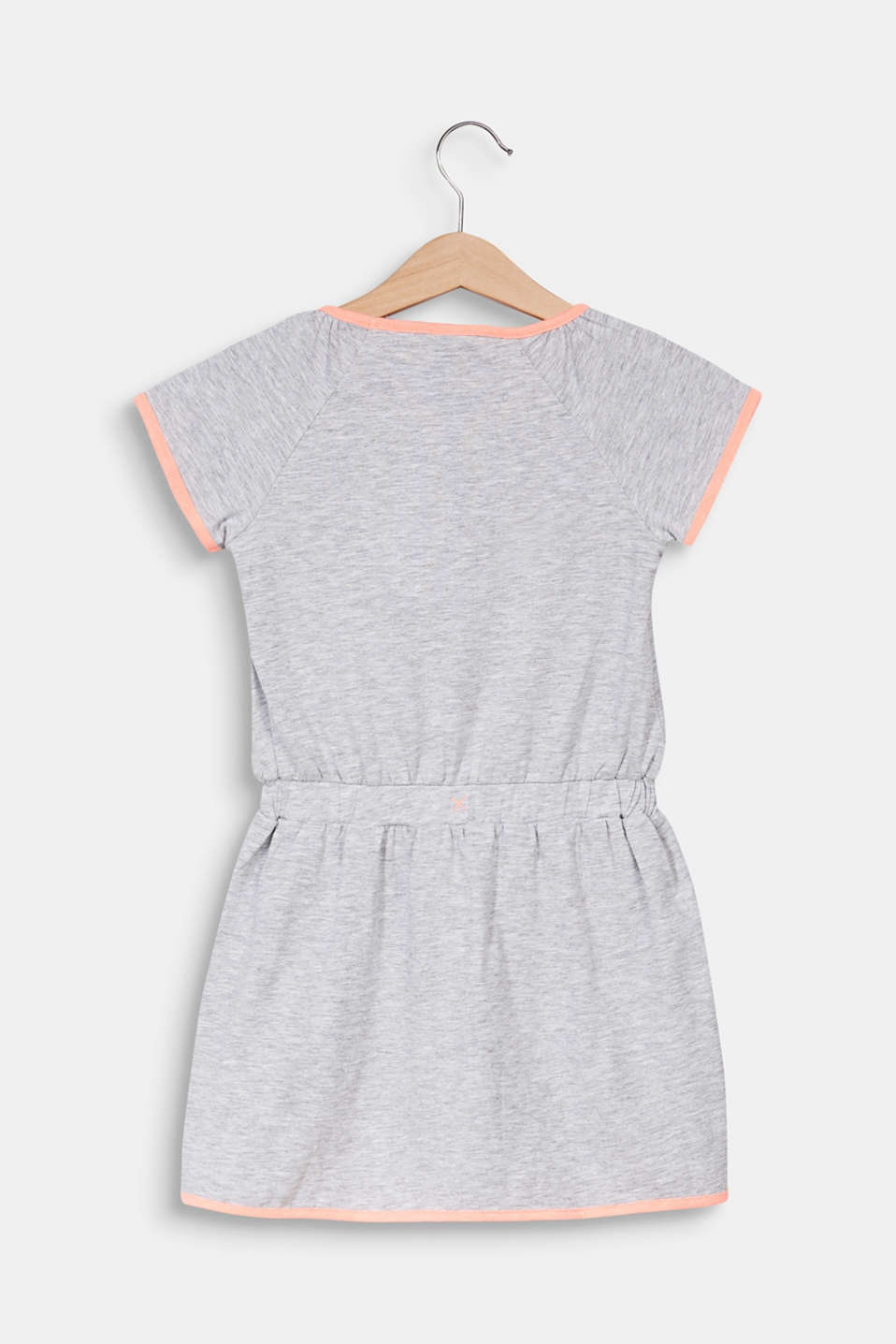 Jersey dress with piping, HEATHER SILVER, detail image number 1