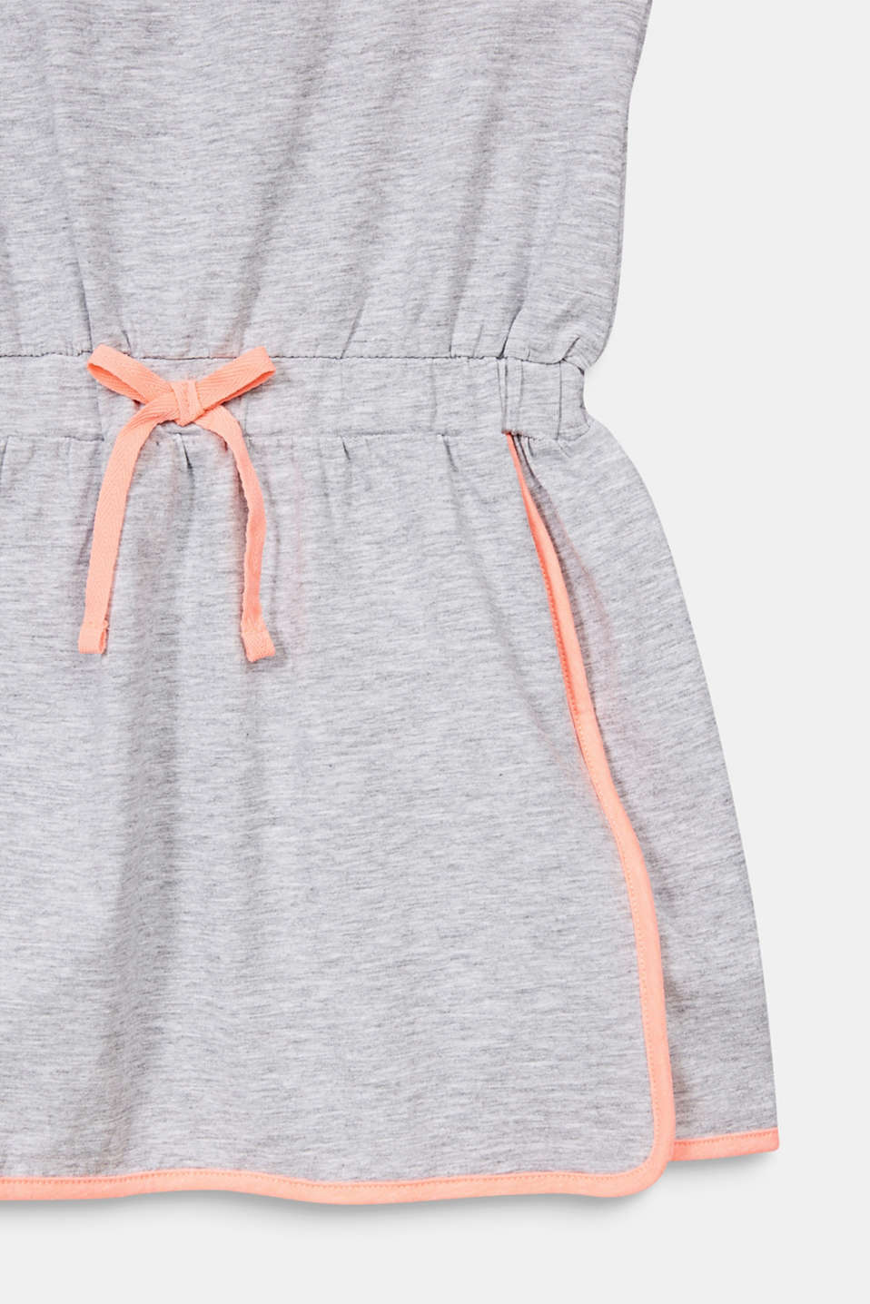 Jersey dress with piping, HEATHER SILVER, detail image number 2