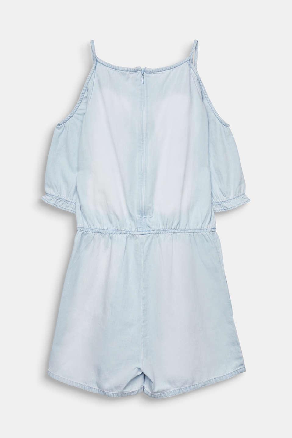 Denim jumpsuit with cut-outs, 100% cotton, LCLIGHT INDIGO D, detail image number 1