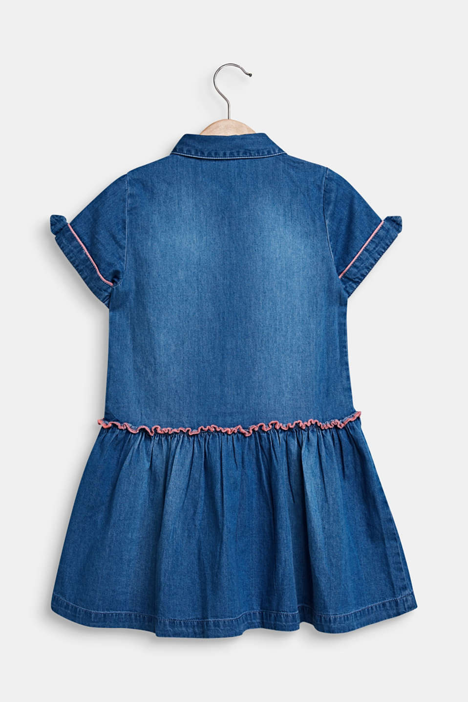 Denim dress in a garment-washed look, 100% cotton, MEDIUM WASH DE, detail image number 1