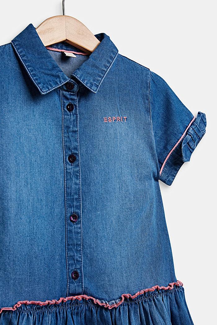 Vestido vaquero con acabado de lavado, 100% algodón, MEDIUM WASH DE, detail image number 3