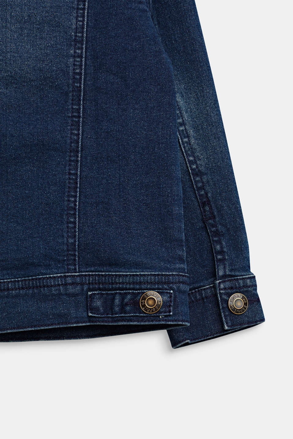Stretch denim jacket, DARK INDIGO DE, detail image number 3