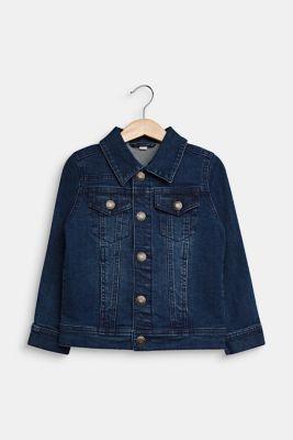 Stretch denim jacket, DARK INDIGO DE, detail