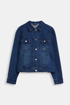 Denim jacket with a statement print, LCMEDIUM WASH DE, detail