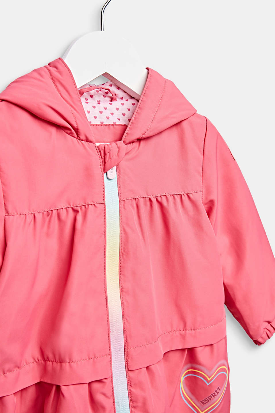 Lightly padded hooded parka, LCCANDY PINK, detail image number 2