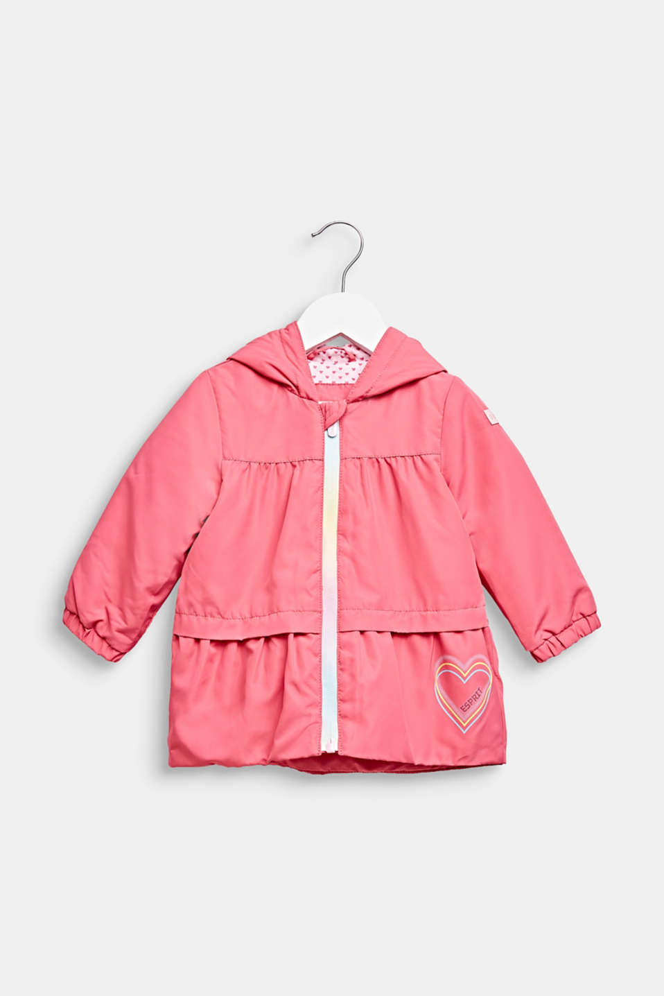 Lightly padded hooded parka, LCCANDY PINK, detail image number 0