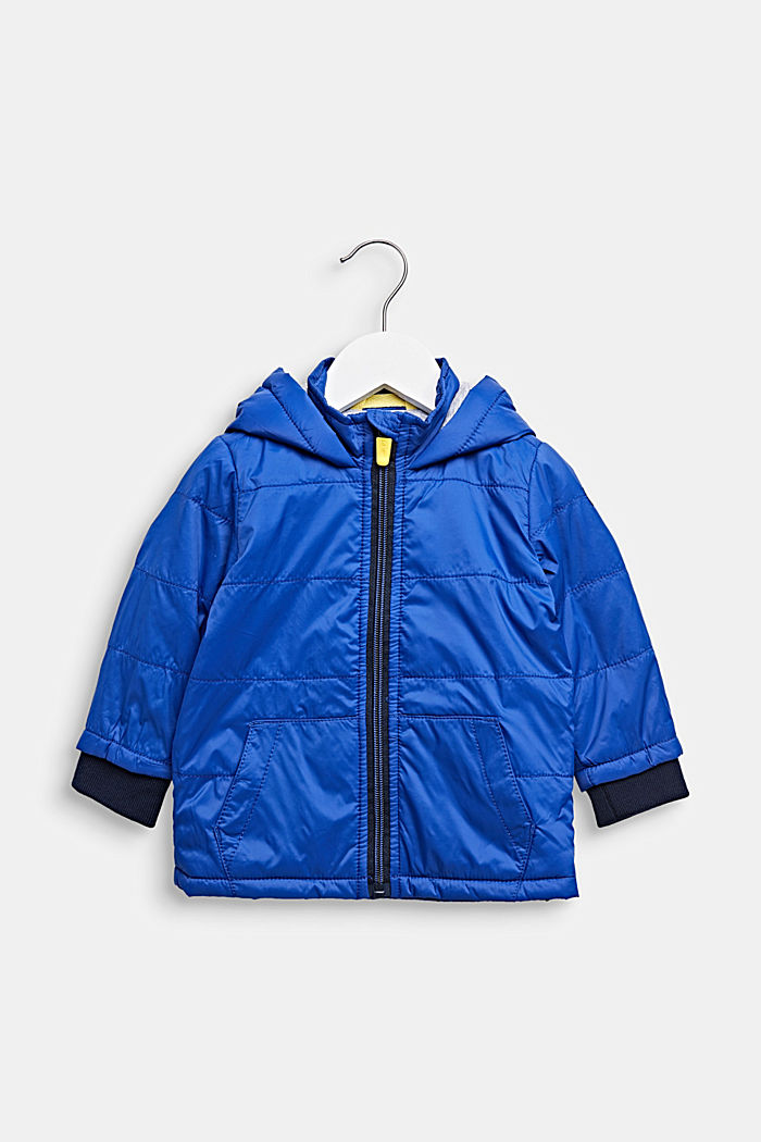 Lightly padded quilted jacket with jersey lining, LCINFINITY BLUE, detail image number 0