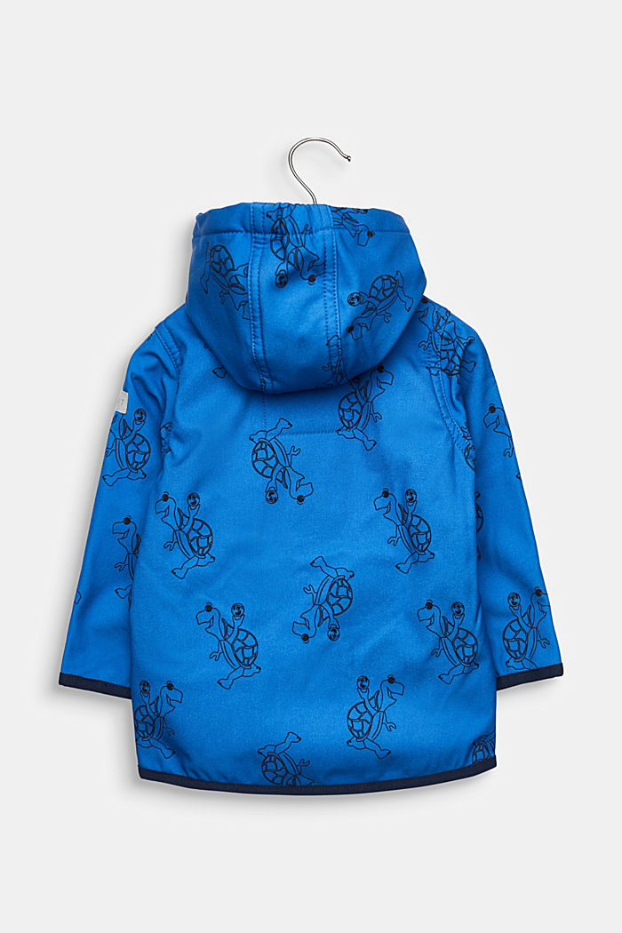 Softshell jacket with fleece on the inside, ELECTRIC BLUE, detail image number 1
