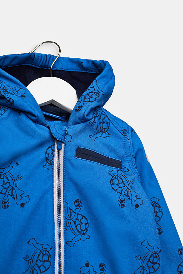 Softshell jacket with fleece on the inside, ELECTRIC BLUE, detail image number 2
